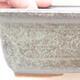 Ceramiczna miska bonsai 16,5 x 11 x 5 cm, kolor brązowo-zielony - 2/3