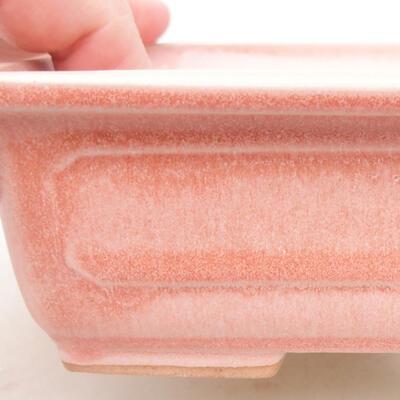 Ceramiczna miska bonsai 16,5 x 11 x 5 cm, kolor różowy - 2