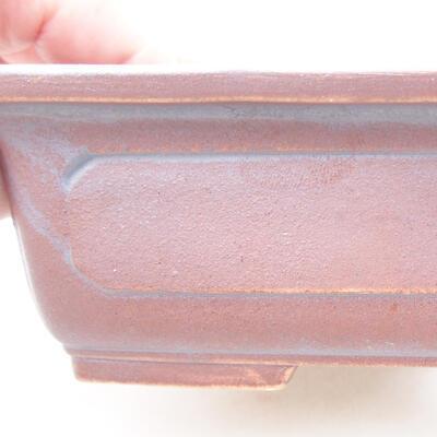 Ceramiczna miska bonsai 16,5 x 11 x 5 cm, kolor metalowy - 2