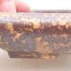 Ceramiczna miska bonsai 16 x 12,5 x 3 cm, kolor brązowo-żółty - 2/3