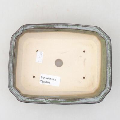 Ceramiczna miska bonsai 17 x 13 x 4,5 cm, kolor zielony - 2