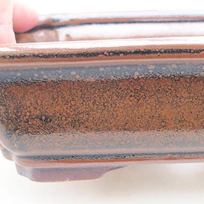 Ceramiczna miska bonsai 17 x 13 x 4,5 cm, kolor brązowy - 2