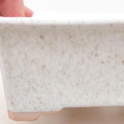 Ceramiczna miska bonsai 17,5 x 14 x 7 cm, kolor biały - 2