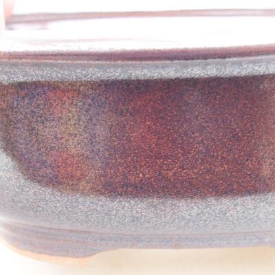 Ceramiczna miska bonsai 14 x 11 x 5 cm, kolor brązowy - 2