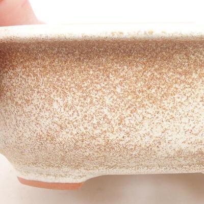 Ceramiczna miska bonsai 14 x 11 x 5 cm, kolor beżowy - 2