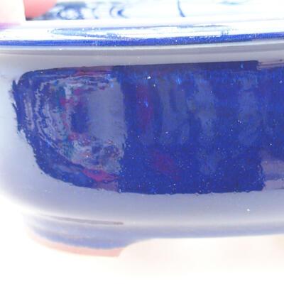 Ceramiczna miska bonsai 14 x 11 x 5 cm, kolor niebieski - 2