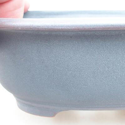 Ceramiczna miska bonsai 14 x 11 x 5 cm, kolor metalowy - 2