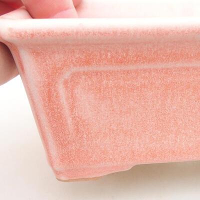 Ceramiczna miska bonsai 13 x 10 x 5 cm, kolor różowy - 2