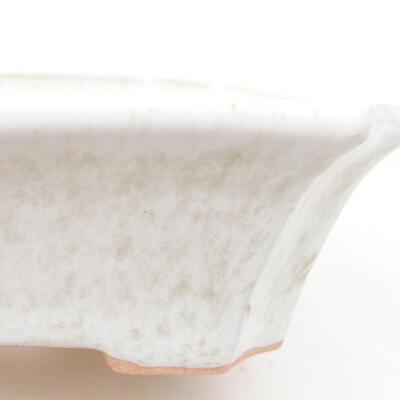 Ceramiczna miska bonsai 12,5 x 10 x 4 cm, kolor biały - 2