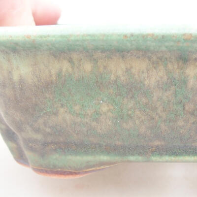 Ceramiczna miska bonsai 15 x 12 x 4 cm, kolor zielony - 2