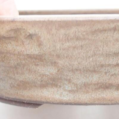 Ceramiczna miska bonsai 18 x 18 x 4,5 cm, kolor brązowy - 2