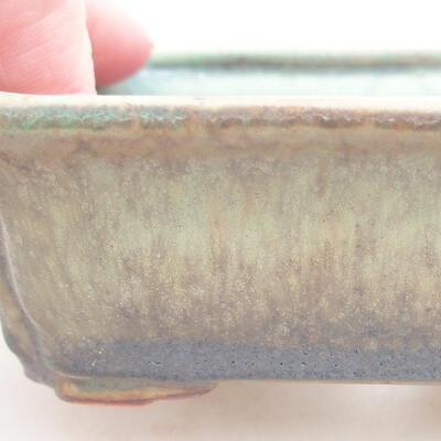 Ceramiczna miska bonsai 12 x 9,5 x 4 cm, kolor zielony - 2