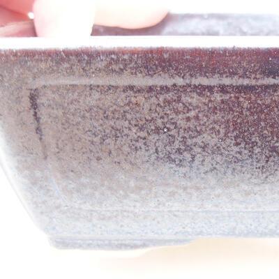 Ceramiczna miska bonsai 15 x 11,5 x 5,5 cm, kolor brązowy - 2