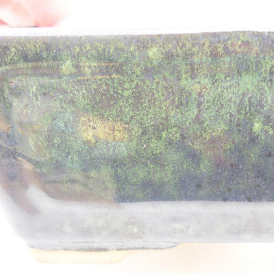 Ceramiczna miska bonsai 15 x 11,5 x 5,5 cm, kolor zielony - 2