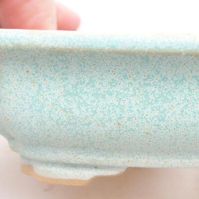 Ceramiczna miska bonsai 13 x 9,5 x 3,5 cm, kolor zielony - 2