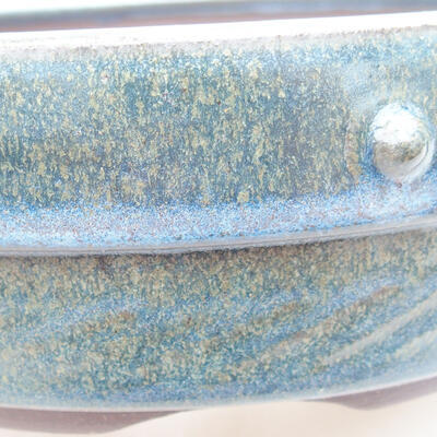 Ceramiczna miska bonsai 18 x 18 x 5,5 cm, kolor niebieski - 2