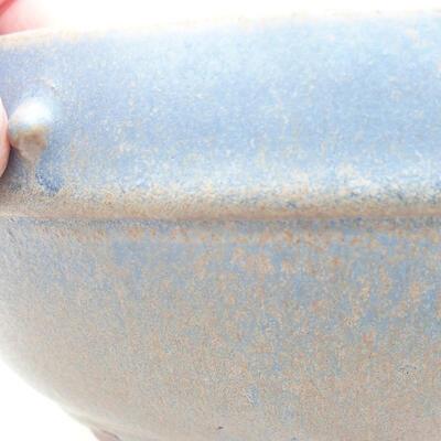 Ceramiczna miska bonsai 17 x 17 x 7 cm, kolor niebieski - 2