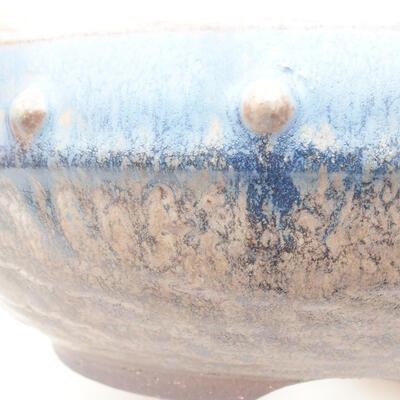 Ceramiczna miska bonsai 18,5 x 18,5 x 7 cm, kolor niebieski - 2