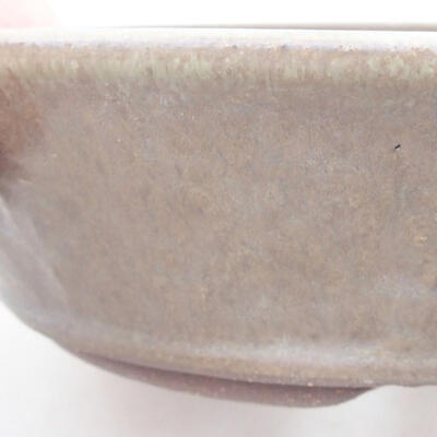 Ceramiczna miska bonsai 18 x 18 x 5 cm, kolor brązowo-zielony - 2