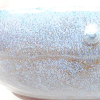 Ceramiczna miska bonsai 18,5 x 18,5 x 6 cm, kolor niebieski - 2