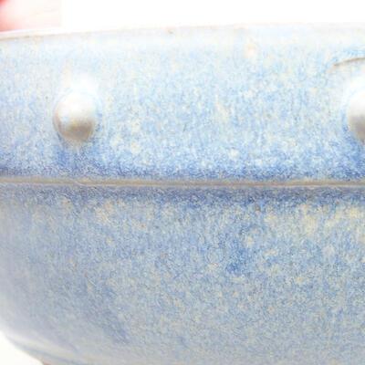 Ceramiczna miska bonsai 21 x 21 x 7 cm, kolor niebieski - 2