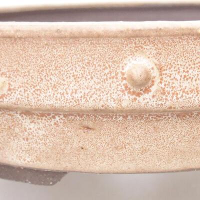 Ceramiczna miska bonsai 19,5 x 19,5 x 4,5 cm, kolor beżowy - 2