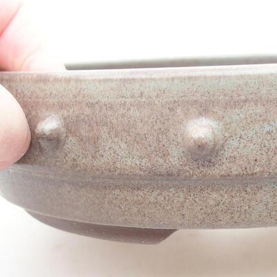 Ceramiczna miska bonsai 18 x 18 x 4,5 cm, kolor szary - 2