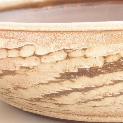 Ceramiczna miska bonsai 36,5 x 36,5 x 9,5 cm, kolor beżowy - 2