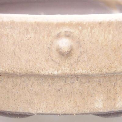 Ceramiczna miska bonsai 17 x 17 x 4,5 cm, kolor beżowy - 2
