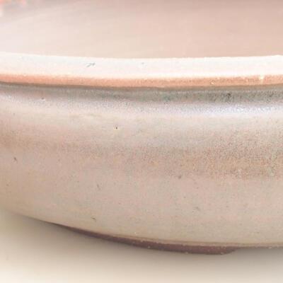 Ceramiczna miska bonsai 37 x 37 x 9 cm, kolor brązowo-zielony - 2