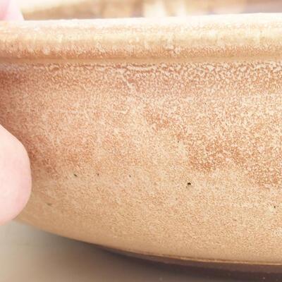Ceramiczna miska bonsai 37,5 x 37,5 x 9 cm, kolor beżowy - 2