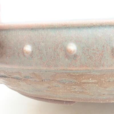 Ceramiczna miska bonsai 35 x 35 x 8 cm, kolor zielony - 2