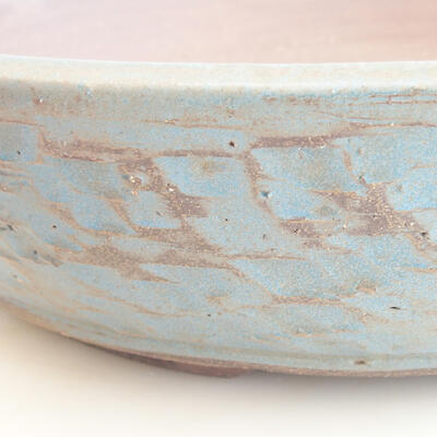 Ceramiczna miska bonsai 38 x 38 x 8,5 cm, kolor zielono-niebieski - 2