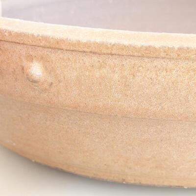 Ceramiczna miska bonsai 33,5 x 33,5 x 8 cm, kolor beżowy - 2