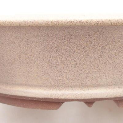 Ceramiczna miska bonsai 20,5 x 20,5 x 5,5 cm, kolor beżowy - 2