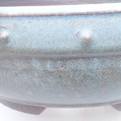 Ceramiczna miska bonsai 23 x 23 x 8 cm, kolor niebieski - 2