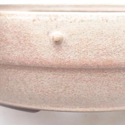 Ceramiczna miska bonsai 28 x 28 x 7 cm, kolor beżowy - 2