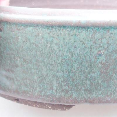 Ceramiczna miska bonsai 21 x 21 x 5,5 cm, kolor zielony - 2