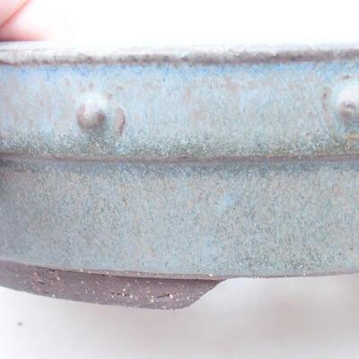 Ceramiczna miska bonsai 22 x 22 x 5 cm, kolor szary - 2
