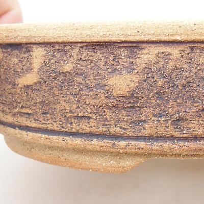 Ceramiczna miska bonsai 21 x 21 x 6 cm, kolor brązowy - 2