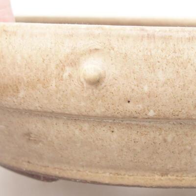 Ceramiczna miska bonsai 20 x 20 x 5 cm, kolor beżowy - 2