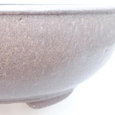 Ceramiczna miska bonsai 25 x 25 x 8 cm, kolor szary - 2