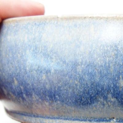 Ceramiczna miska bonsai 14,5 x 14,5 x 5 cm, kolor niebieski - 2