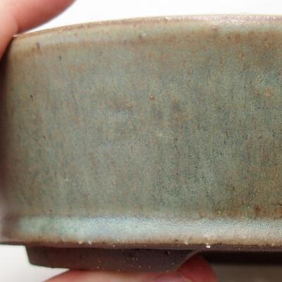 Ceramiczna miska bonsai 16 x 16 x 4,5 cm, kolor zielony - 2