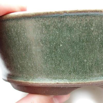 Ceramiczna miska bonsai 14 x 14 x 5 cm, kolor zielony - 2