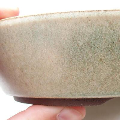 Ceramiczna miska bonsai 17 x 17 x 4 cm, kolor beżowy - 2