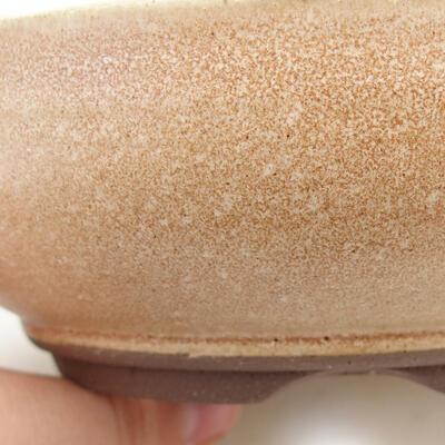 Ceramiczna miska bonsai 15 x 15 x 5 cm, kolor beżowy - 2