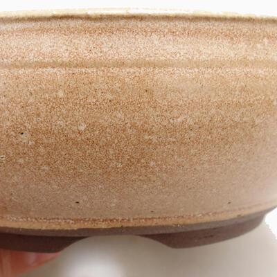 Ceramiczna miska bonsai 14,5 x 14,5 x 6 cm, kolor beżowy - 2