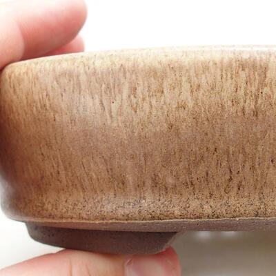 Ceramiczna miska bonsai 14 x 14 x 4 cm, kolor beżowy - 2