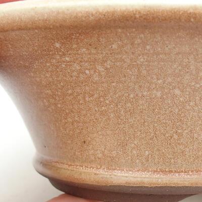 Ceramiczna miska bonsai 16,5 x 16,5 x 6 cm, kolor beżowy - 2